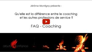 quelle est la différence entre le coaching et les autres professions de service ?